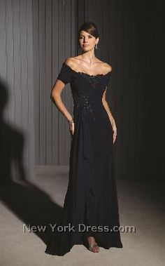 Beautiful elegant mother of the bride dress