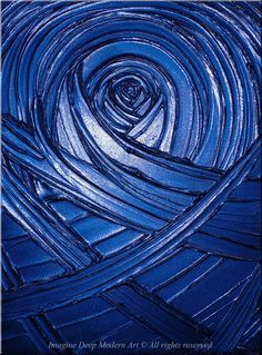 Blue Painting Indigo Royal Navy Blue - Healing Sapphire Creation - 18x24 High Quality Original Textural Sculptural Impasto Modern Fine Art. $125.00, via Etsy.