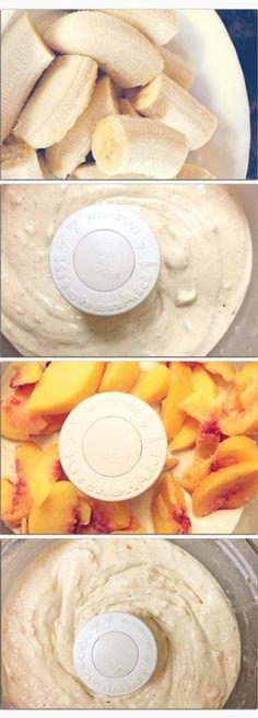 Peaches & Dream Cream #icecream #healthy #vegan