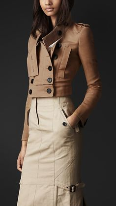 Disconnected Collar Cotton Linen Jacket | Burberry