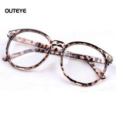 Black Frame Gold Leg Retro Mens Womens Clear Lens Wayfarer Eyeglasses Glasses Frames Anti-radiation x