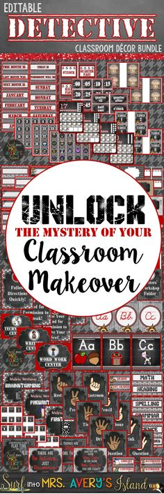 This detective themed classroom decor bundle is FULL of back to school essentials to help teachers with classroom organization and classroom management to last throughout the school year! Click here to take a look at this HUGE bundle of teaching resources and discover the ease of welcoming your students back to school!