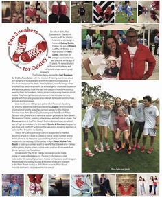 Red Sneakers for Oakley and the #20forOakley campaign featured in the current issue of Palm Beach Society Magazine #foodallergyawareness #livlikeoaks #redsneakersforoakley #oakleydebbs