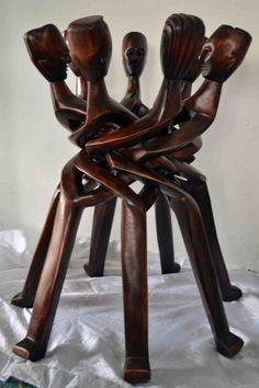 The Unity. Art African Art Hand Carvings Hand by Boriquahafrikanah,