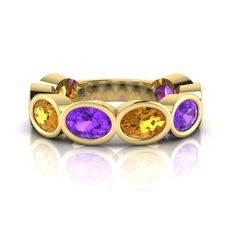 Silver Amethyst and Citrine Ring. Citrine Ring, Bangles, Bracelets, Eternity Ring, Amethyst, Rings, Silver, Fun, Collection