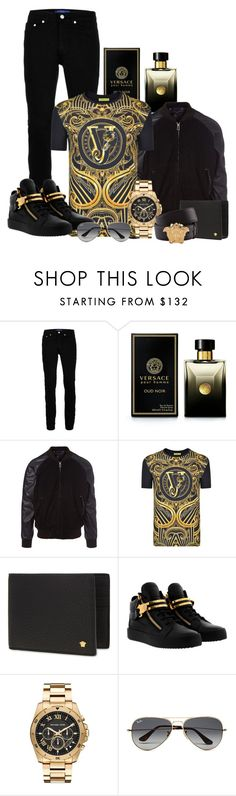"""Riches💰"" by aroushakhan ❤ liked on Polyvore featuring Topman, Versace, PS Paul Smith, Giuseppe Zanotti, Michael Kors, Ray-Ban, men's fashion and menswear"