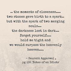 #short #poem Saurabhh aggarwal words - Notes of an idiot