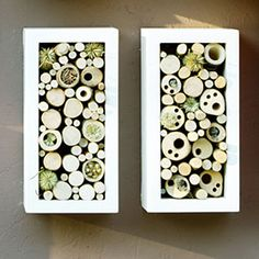 Bug Hotels as Garden Art: Light Wood Pieces - 8 Stylish Bug Boxes - Sunset Mobile Bug Hotel, Diy Garden Projects, Fun Projects, Garden Ideas, Bugs, Mason Bees, Bee Boxes, Garden Care, Upcycled Crafts