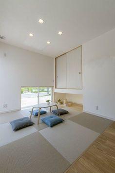 和室 Modern Japanese Interior, Japanese Home Decor, Japanese Interior Design, Japanese House, Living Room Wall Units, Interior Design Living Room, Tatami Room, Zen Room, Home And Deco
