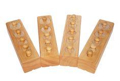 Motorikspiele - Montessori Material Einsatz Zylinder Set 24teilig - ein Designerstück von Pelznase_DE bei DaWanda
