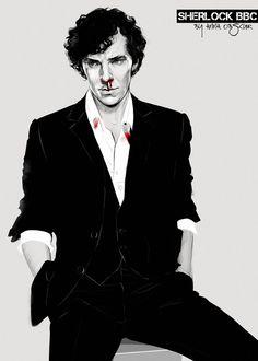 Norbury, Sherlock Nosebleed in Mind Palace Fan Art Sherlock, Sherlock Holmes Series, Sherlock Fandom, Sherlock Quotes, Sherlock Poster, Molly Hooper Sherlock, Watson Sherlock, Sherlock John, Jim Moriarty