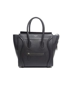 Celine : Pre-Owned Celine Pebbled Leather Micro Luggage Tote : style # 359952301