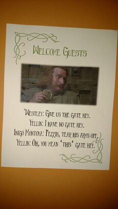 Princess Bride Party...Wall Sign