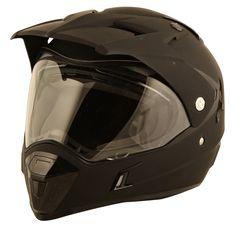 Duchinni D311 Dual Adventure Helmet in Matt Black