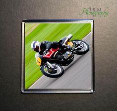 motorbike coaster - motorbike - wayne gardner - acrylic coaster - motorcycle - bike drink mat - square coaster - 100mm coaster