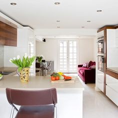 White open-plan kitchen | White kitchen design ideas | Kitchen | PHOTO GALLERY | Beautiful Kitchens | Housetohome.co.uk