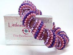Purple Rain Cellini Spiral Beadwoven Bracelet by littlestonedesign