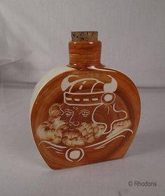 Rushton Pottery IOM Viking Flask / Bottle by Rhodons on Etsy