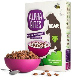 Bear cereal packaging
