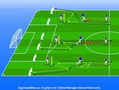 ΠΡΟΠΟΝΗΤΗΣ ΠΟΔΟΣΦΑΙΡΟΥ: 1-4-3-3 Trαining Session Soccer Practice Plans, Soccer Training, How To Plan, Sports, Club, Running, Soccer, Training Workouts, Workout Exercises