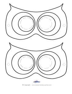 Printable Owl Mask - Coolest Free Printables Don't forget the beak!!