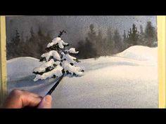 10 minute watercolour snow scene - YouTube