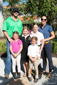 Jarrod & Ashley Saltalamacchia with daughters Sidney and Hunter and friends
