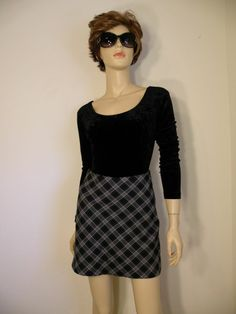 #Vtg #70s #Boho #Retro #Preppy #Plaid Navy #Pencilskirt #SchoolGirl #MiniSkirt Sz XS S EXC #vintagefashion #fashion
