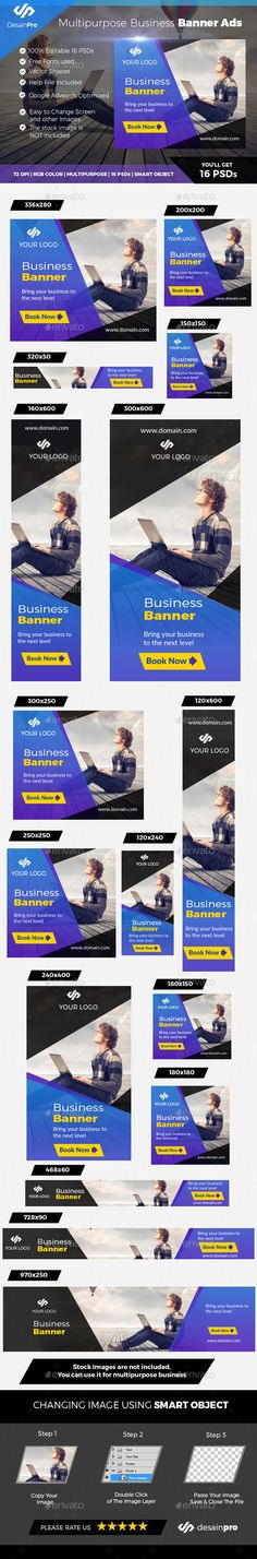 Business Banner Template — Photoshop PSD #advertising #web service • Available here → https://graphicriver.net/item/business-banner-template/19586897?ref=pxcr