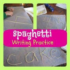 Writing With Spaghetti!