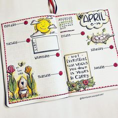 Happy Monday and a new week. Feels like Spring finally! Bullet Journal Month, Bullet Journal Notebook, Bullet Journal Layout, Bullet Journal Inspiration, Calendar Journal, Calendar Pages, Scrapbook Journal, Cute Planner, Happy Monday