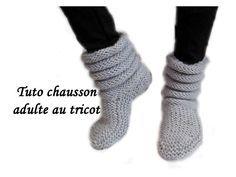 Pour réaliser ces chaussons taille adulte complètement extensible que vous fassiez du 38 ou du 40/42 pour une taille plus grande vous p...
