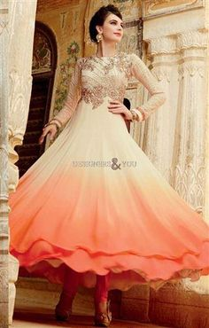 Double-layered latest anarkali suits latest pattern with heavy work Visit http://www.designersandyou.com/dresses/anarkali-suits #AnarkaliSalwarKameez #AnarkaliUK #AnarkaliUSA #LongAnarkali #NewAnarkali #Anarkali2016