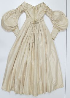 Wedding dress (image 2 - back) | European | 1838 | silk, wool | Metropolitan Museum of Art | Accession #: 2011.287