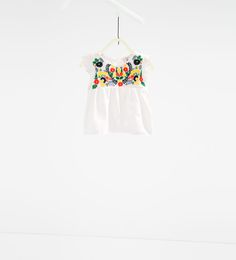 Embroidered frilled full blouse-SHIRTS-BABY GIRL | 3 months-3 years-KIDS | ZARA United States