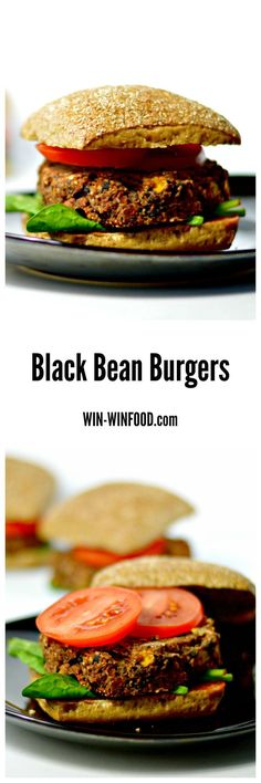 Black Bean Burgers | WIN-WINFOOD.com Crispy and slightly golden on the outside, chewy on the inside with the perfect blend of spiciness, smokiness and sweetness. #vegan #healthy #cleaneating #glutenfree option (use gf bun) #soyfree