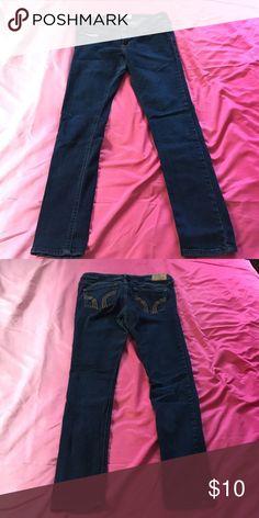 Skinny jeans Hollister brand dark wash skinny jeans size 9 short 73% cotton 14% viscose 11% polyester 2% elastane Hollister Pants Skinny
