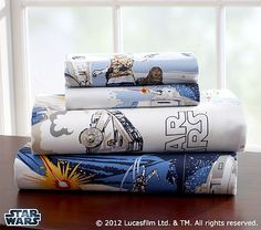Its almost just exactly like the classic!  Star Wars: The Empire Strikes Back™ Sheeting #WilliamsSonoma