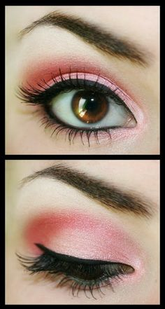 Great Eye Liner mixed up with Pink Eyeshadow