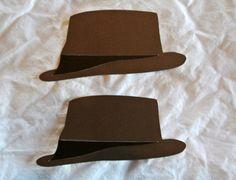Fedora Hat die cuts brown and black men's hat by AddieRecoyDesigns