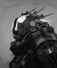 rhubarbes:  ArtStation - Darren Bartley Artwork. More robots here.