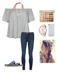 """""""{rtd}"""" by abbyread ❤ liked on Polyvore featuring Ted Baker, Hollister Co., Frame, Birkenstock, Kendra Scott and Kate Spade"""