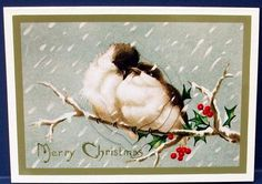 Vintage Christmas Birds on Branch Splendid Pyramid on Craftsuprint designed by Apetroae Stefan - made by Cheryl French - Printed onto glossy photo paper. Attached base image to card stock using ds tape. Built up image with 1mm foam pads. - Now available for download!