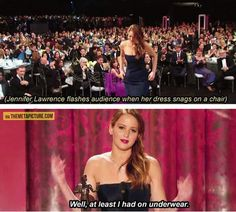 How Jennifer Lawrence deals with embarrassing ...
