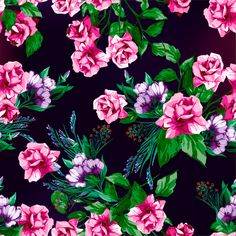 rose-floral-pattern-rozy.jpg (3000×3000)