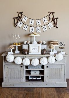 Thanksgiving | Buffet Table