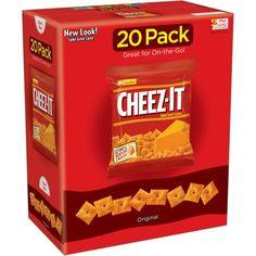 Cheez-It Original Baked Snack Crackers, 1 oz, 20 count No Bake Snacks, Easy Snacks, Bite Size Snacks, Party Spread, Oatmeal Cream, Cheese Snacks, Late Night Snacks, Tasty Bites, Crackers