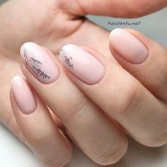 Give life to your nude nails by adding white poli… Floral inspired nude nail art. Give life to your nude nails by adding white polish on the tips with flower details on them Nude Nails, Pink Nails, Coffin Nails, Hair And Nails, My Nails, Best Nails, Natural Looking Acrylic Nails, Minimalist Nails, Stylish Nails