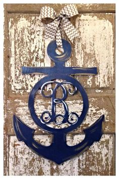 Anchor Anchor Door Hanger Anchor Monogram by SouthernStyleGifts, $65.00
