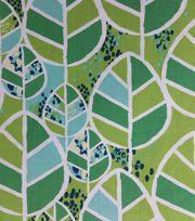Koko Lee™ Cotton Fabric-Leaves On Green,